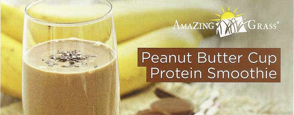 Peanut Butter Cup Protein Smoothie by Amazing Grass - Live Superfoods