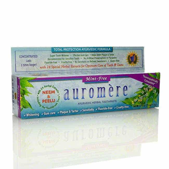 Auromere Ayurvedic Mint-Free Toothpaste (fluoride-free), 4.16 oz