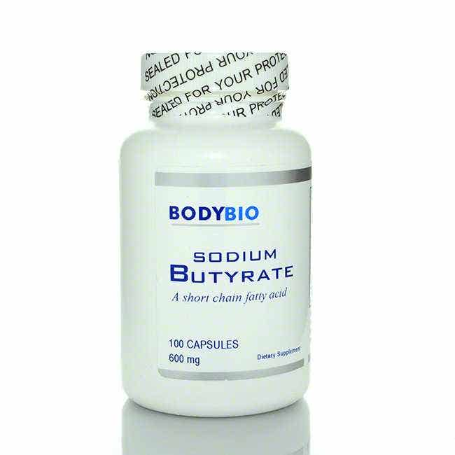 BodyBio Sodium Butyrate, 100 count