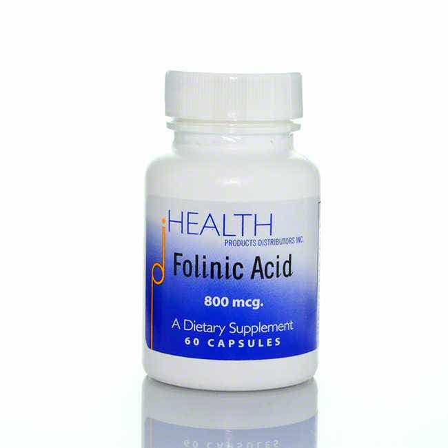 BodyBio Folinic Acid, 60 count