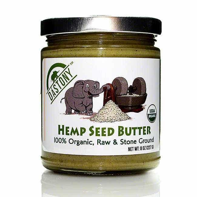 Dastony Raw Hemp Seed Butter, 8 oz