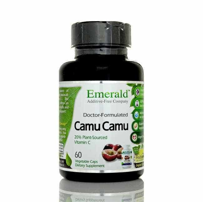 Camu Camu Fruitrients - World's Best Vitamin C  Camu Camu fruit from the rain forest of Peru contains more natural vitamin C than any other known plant in the world. It is a strong natural anti-herpetic loaded with bioflavonoids, the amino acids serine, valine, and leucine, as well as some B vitamins.  Camu camu has been touted as an energizer, mild anti-depressant and immune system strengthener, as well as one of the most powerful of all the phytochemicals. Excellent for cell detoxification, strengthening the immune system, anti-aging support.  Using exotic fruits found in the Amazon, Southeast Asia, the Philippines and Tahiti, new Fruitrients-X formulas from Ultra Laboratories extract only the best of these fruits, delivering them in the purest, most concentrated and effective form possible.  Package contains 60 vegetable capsules.     About Fruitrients    Additive-Free • Gluten Free • Vegan Formula • Organically Grown   Fruitrients exotic fruit su