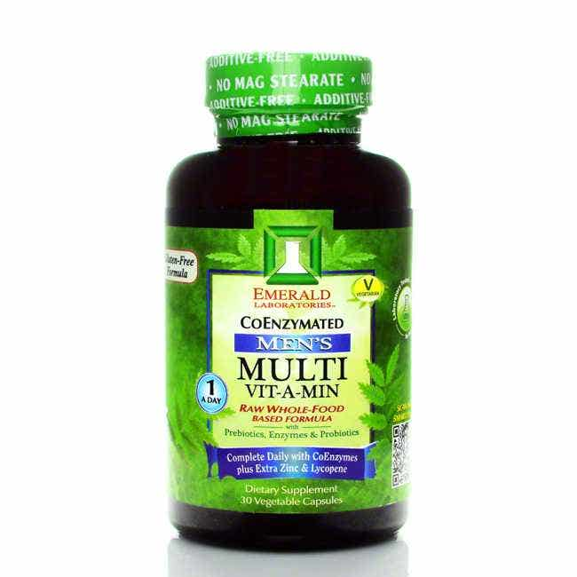 Emerald Labs One-A-Day Complete Men's Multi Vit-A-Min, 30 ct  Emerald Labs One-A-Day Complete Men's Multivitamin is a one-a-day, complete multivitamin formula has been specifically created for the needs of men. Includes Antioxidants, extra Zinc, extra Lycopene, Coenzymes, and Coenzyme Folic Acid.   Recent research shows that almost half of the U.S. population can not properly metabolize Folic Acid unless it is in its activated, coenzyme form. One-A-Day Complete for Men contains 200mcg of Coenzyme Folic Acid (L-5 Methyl Tetrahydrofolate).  One-A-Day Complete supports prostate health with added Lycopene and Zinc.   Added antioxidant benefits come from:     • Lutein- to support eye health; studies show lutein may prevent age related macular degeneration.   • Alpha Lipoic Acid (ALA) - may treat symptoms of Alzheimers, may decrease the buildup of plaque in the arteries.  • Grapeseed Extract - beneficial for cardiovascular health, may improve poor circulat