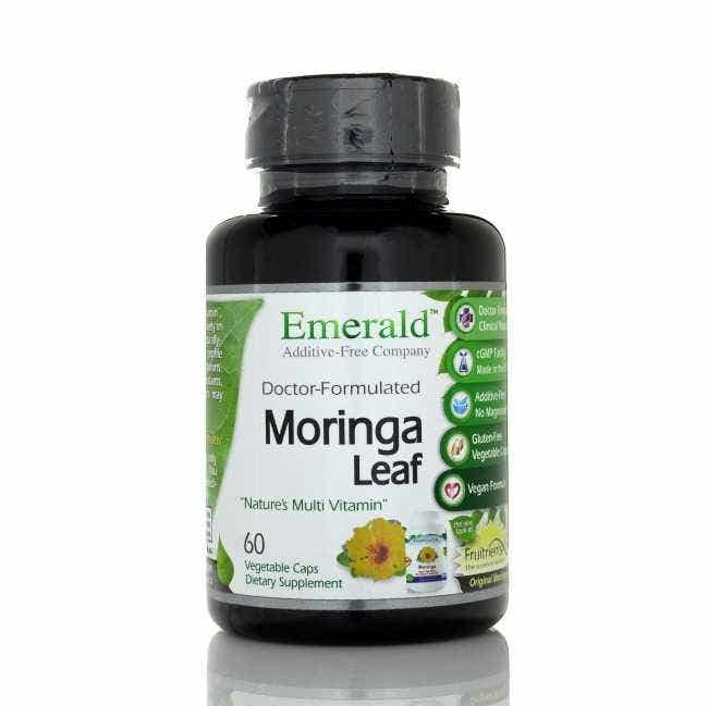 "Fruitrients-X Moringa Extract   Fruitrients-X Moringa, Nature's Multi Vitamin, is a natural source of over 90 different vitamins, minerals, and other nutrients. When compared ""ounce for ounce,"" the leaves have been touted to contain about the same Calcium as 4 glasses of milk, the same amount of Potassium as 3 bananas, the same Vitamin C as 7 oranges, and the same Vitamin A as 4 carrots.  One serving of Moringa contains:    125% daily value of Calcium  61% daily value of Magnesium  41% daily value of Potassium  71% daily value of Iron  272% daily value of Vitamin A  22% daily value of Vitamin C    Moringa Oleifera is a tree that primairly grows in the foothills of the Himalayas. However, it can be found scattered among portions of India, Malaysia, and the Philippines. According to the annals of the ayurveda, India's old tradition of medicines, the leaves of the Moringa Tree could treat at least 300 diseases. Moringa was highly valued in the ancient world"