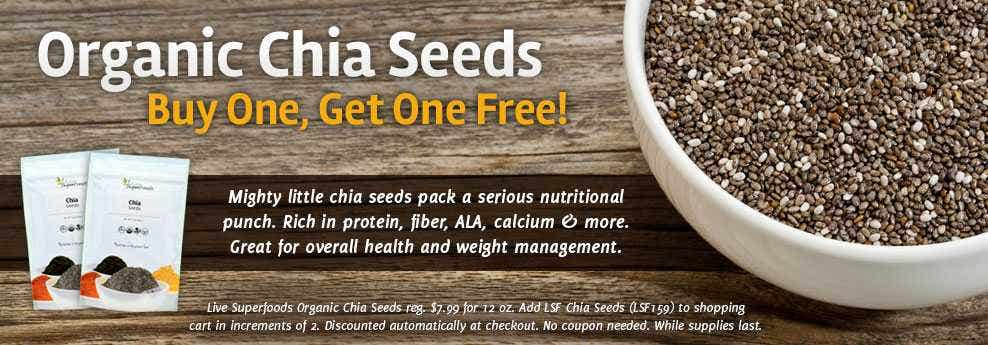 BOGO Chia Seeds Sale Happening Now